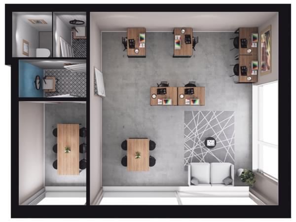 Toruńska Wołomin - wizualizacja mieszkania LU01