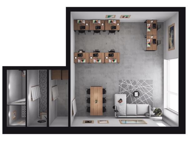 Toruńska Wołomin - wizualizacja mieszkania LU02
