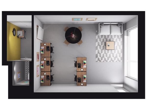 Toruńska Wołomin - wizualizacja mieszkania LU03