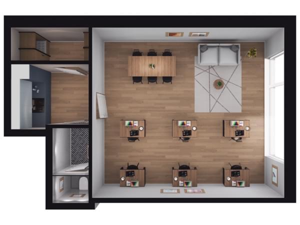 Toruńska Wołomin - wizualizacja mieszkania LU06