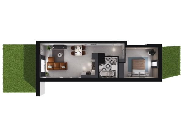 Toruńska Wołomin - wizualizacja mieszkania 033/1