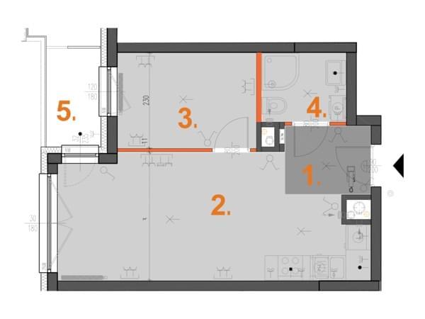 Toruńska Wołomin - wizualizacja mieszkania 083/1